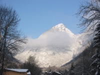 The chalet backdrop - breathtaking mountain surroundings for your ski and walking holiday